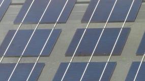Schließen Sie oben auf Sonnenkollektoren Stockfoto
