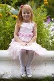 Schließen Sie oben, Porträt des kleinen roten vorangegangenen Mädchens Stockfotos