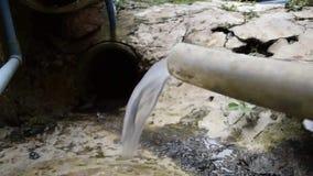 Schließen Sie oben vom Abwasser vom Gummischlauch stock footage