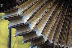 Schließen Sie oben vom Akkordeon an Klezmer-Konzert der jüdischen Musik in Regent's Park in London lizenzfreie stockfotos