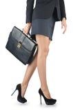 Schließen Sie oben vom Aktenkoffer und von der Geschäftsfrau Lizenzfreie Stockfotografie