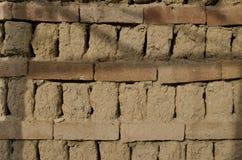 Schließen Sie oben vom alten beschmutzten Ziegelstein Stockbild