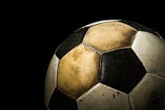 Schließen Sie oben vom alten Fußball Stockfotos