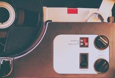 Schließen Sie oben vom alten 8mm Film-Projektorteil Lizenzfreie Stockfotos