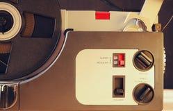 Schließen Sie oben vom alten 8mm Film-Projektorteil Stockbild