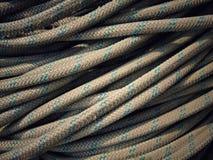 Schließen Sie oben vom alten Seil Stockbild