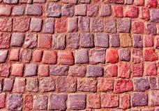 Schließen Sie oben vom alten Steine in den Weg legen Lizenzfreies Stockfoto