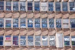 Schließen Sie oben vom aufgegebenen Gebäude Stockfotos