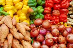 Schließen Sie oben vom bunten Gemüse Stockfoto