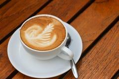Schließen Sie oben vom Cappuccinokaffee Lizenzfreies Stockfoto