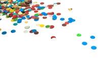 Schließen Sie oben vom Confetti lizenzfreies stockfoto