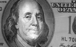 Schließen Sie oben vom Dollarschein Stockfoto