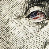 Schließen Sie oben vom Dollarschein Stockfotografie