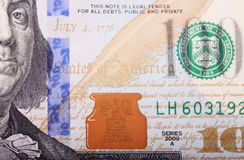 Schließen Sie oben vom Dollarschein Lizenzfreie Stockbilder