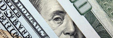 Schließen Sie oben vom Dollarschein Lizenzfreies Stockbild