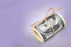 Schließen Sie oben vom Dollarschein Stockbilder