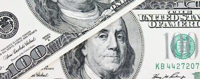 Schließen Sie oben vom Dollarschein Lizenzfreies Stockfoto