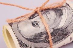 Schließen Sie oben vom Dollarschein Lizenzfreie Stockfotografie