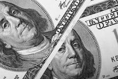 Schließen Sie oben vom Dollarschein Stockbild