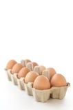 Schließen Sie oben vom Ei auf weißem eingeschlossenem Hintergrund Beschneidungspfad. Lizenzfreie Stockfotos