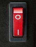 Schließen Sie oben vom Ein/Aus-Schalter oder vom Netzschalter Stockfoto
