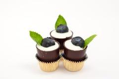 Schließen Sie oben vom fantastischen Schokoladen-Nachtisch Lizenzfreie Stockbilder