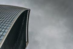 Schließen Sie oben vom Funksprechgerätgebäude in der Stadt von London, England, Großbritannien, alias 20 Fenchurch Straße Stockbilder