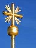 Schließen Sie oben vom Gipfelkreuz des Zugspitze Lizenzfreie Stockbilder