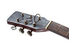 Schließen Sie oben vom Gitarrenspindelkasten Stockfoto