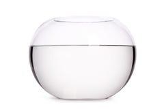 Schließen Sie oben vom Glasaquarium voll Wasser Lizenzfreies Stockbild