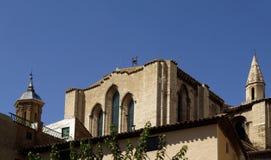 Schließen Sie oben vom Glockenturm der Kathedrale von Tudela, Stockfotos