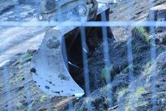 Schließen Sie oben vom Gräber bei der Arbeit stockbilder
