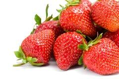 Schließen Sie oben vom Haufen der Erdbeere lizenzfreies stockfoto