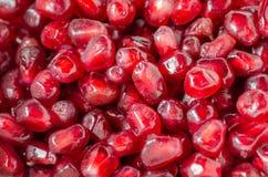 Schließen Sie oben vom Haufen des Granatapfelsamens Lizenzfreies Stockfoto