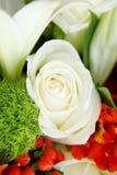 Schließen Sie oben vom Hochzeitsblumenstrauß Lizenzfreie Stockbilder