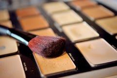 Schließen Sie oben vom Make-up u. bürsten Sie Lizenzfreies Stockbild