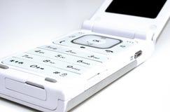 Schließen Sie oben vom modernen Handy stockbild
