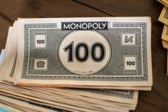 Schließen Sie oben vom Monopolgeld Stockbilder