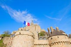 Schließen Sie oben vom Mont Saint Michel, Frankreich Stockbild