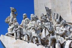 Schließen Sie oben vom Monument zu den Entdeckungen Lizenzfreies Stockfoto