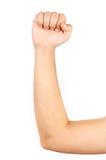 Schließen Sie oben vom muskulösen Arm des dünnen Mannes Lizenzfreie Stockbilder