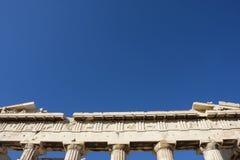 Schließen Sie oben vom Parthenontempel Stockfotografie