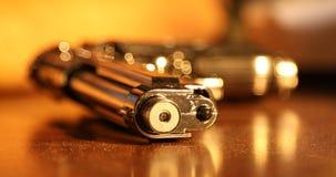 Schließen Sie oben vom Revolver stock footage