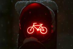 Schließen Sie oben vom roten Licht Stockfoto