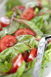 Schließen Sie oben vom Salat Stockbild