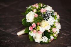 Schließen Sie oben vom schönen Hochzeitsblumenstrauß Lizenzfreies Stockfoto