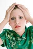 Schließen Sie oben vom schönen sechzehn Einjahresmädchen Stockfotos