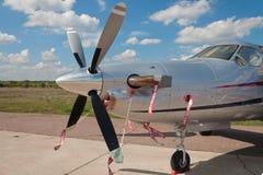 Schließen Sie oben vom Stützeflugzeug lizenzfreie stockbilder