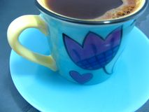Schließen Sie oben vom Tasse Kaffee Lizenzfreie Stockfotografie