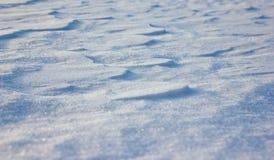 Schließen Sie oben vom weißen Schnee Lizenzfreie Stockfotos